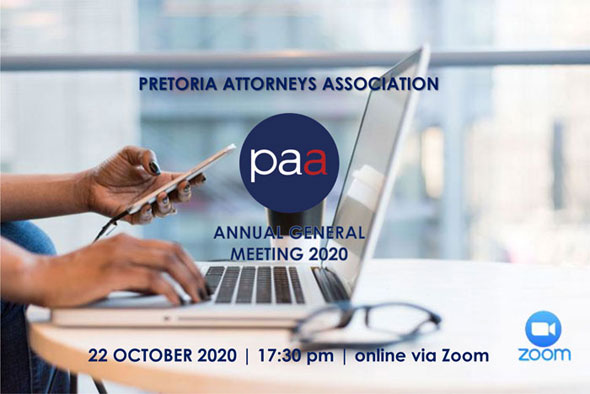 PAA Annual General Meeting 22 October 2020